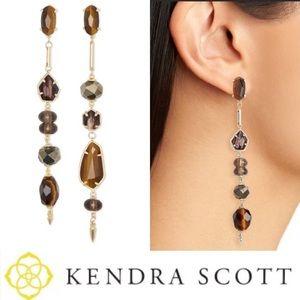 NWT Kendra Scott Cosette earrings - brown